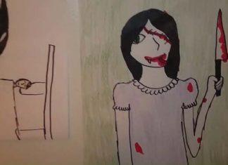 Děsivé a krvavé obrázky od dětí DarkTown.cz - creepypasty darkweb deepweb historky legendy záhady děsivé strašidelné creepy příběhy strach videa obrázky články