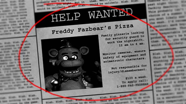 Five Nights at Freddy's hra creepypasta česky darktown.cz