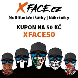 xface bandana multifunkční šátek nákrčník